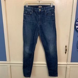 MOTHER High Waisted Looker Ankle Jeans Sz 28